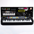 37 Key Small Electronic Keyboard Piano Musical Toy Mic Records for Children Kids Christmas Gift - Black