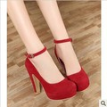Wholesale Supply singles shoes 13 new ladies high heels shoes with thick belt buckle professional sexy  women pumps