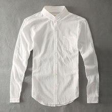 Zecmos хлопок белье мужские рубашки белые дедушка китайский воротник Повседневные рубашки для мужчин