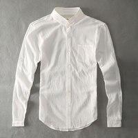 Zecmos Katoen Linnen Mannen Shirts Wit Opa Chinese Kraag Casual Shirts Voor Mannen
