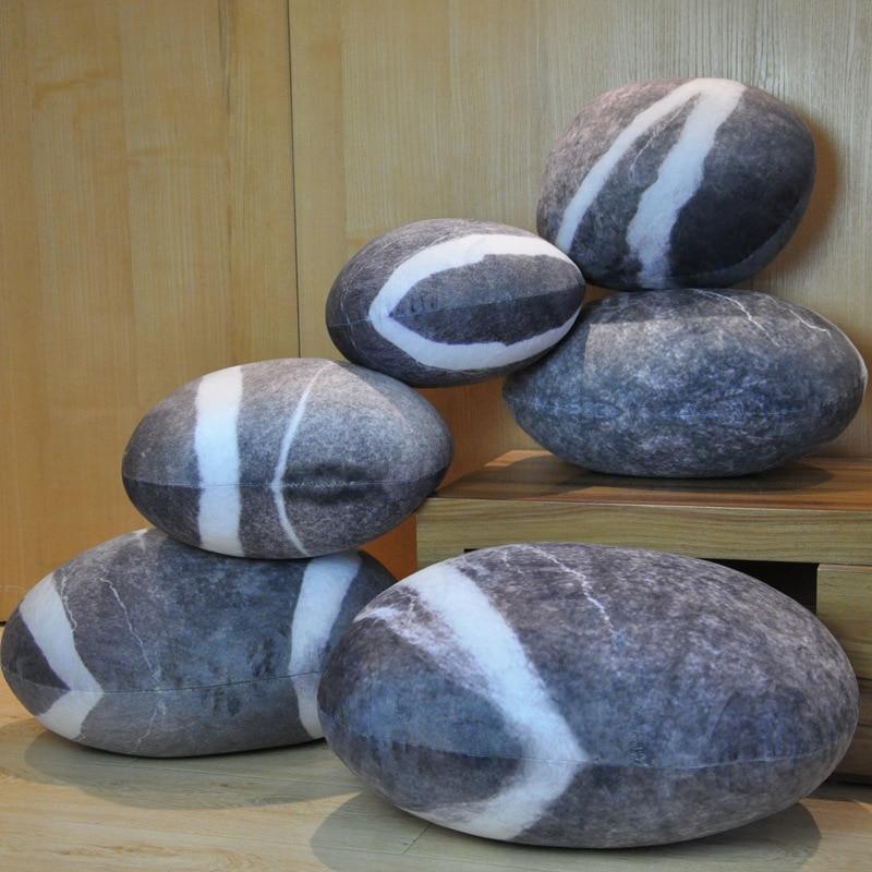 2019 новая горячая креативная 3D имитация каменной подушки галька хлопок задняя подушка ленивый креативный домашний декор забавная мягкая подушка