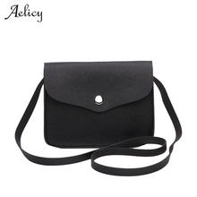 Aelicy Luxury 6 Colors Famous Brand Design Small Fold Over Bag Mini Women Messenger bags PU Leather Bags Hot Sale Bolsos Mujer(China)