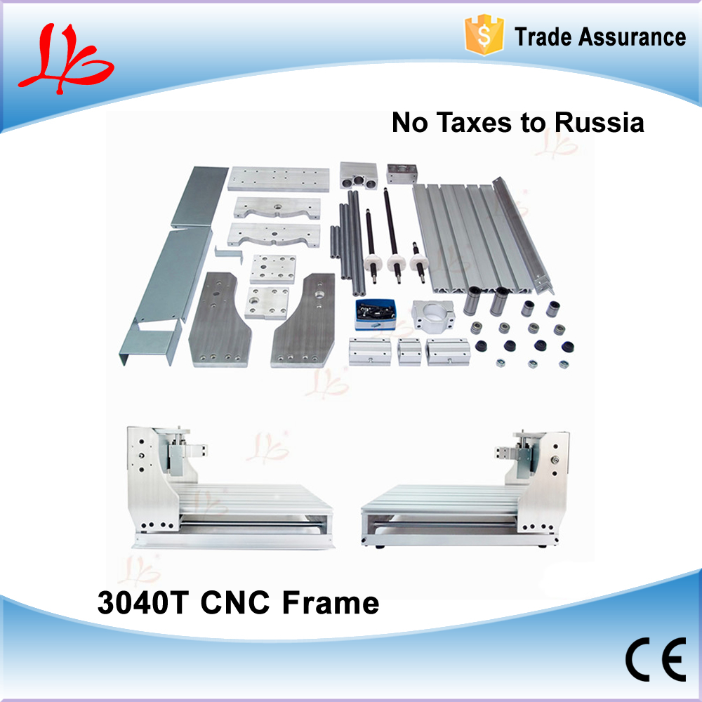 No Tax to Russia & Ukraine, DIY CNC 3040 T CNC Frame With Trapezoidal Screw For Engraving Machine Frame, Lathe Bed cnc 6040z diy cnc frame lathe kit of milling engraving machine with ball screw free tax to eu