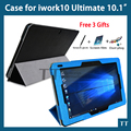 """for Cube iwork10 ultimate case pu Leather Case for Cube iwork 10 ultimate 10.1""""tablet pc + free 3 gifts"""