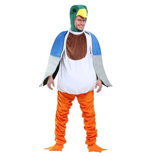Deluxe Mallard Duck Mens Animal Costume Get Yourself Ready For A Trip To The Local Pond  sc 1 st  AliExpress.com & Deluxe Mallard Duck Mens Animal Costume Get Yourself Ready For A ...