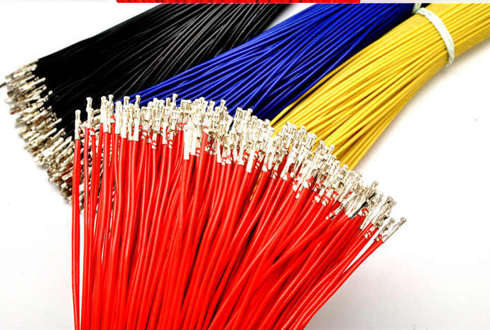 Free Ship 50pcs/lot Dupont Line Single Head Crimping Reed Leadwire 25CM 24# Terminal Lead Wires