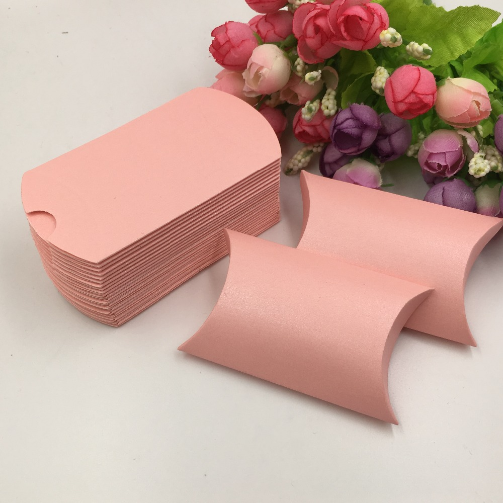 50pcs sweet lovely Decoration Paper Candy box Rustic pink Favor Gift ...
