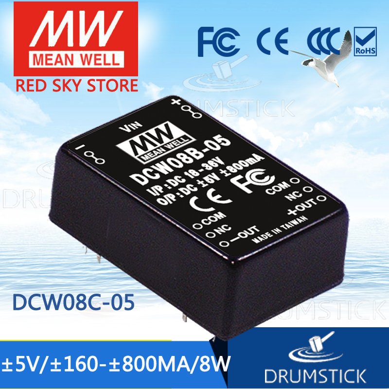 MEAN WELL DCW08C-05 5V 800mA meanwell DCW08 5V 8W DC-DC Regulated Dual Output Converter аккумулятор patriot 12v 1 5 ah hb dcw ni