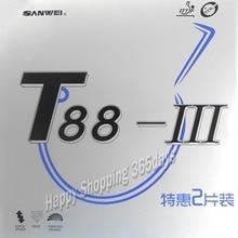 2 шт. SANWEI T88 III(T88-3) резиновый стол для настольного тенниса(наполовину липкий, петля) с губкой прыщи в пинг-понг резиновый