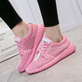 Hot Women Casual Shoes 2017  Arrival Women's Fashion Air Mesh Summer Female Shoes lace-up Big Size 35-40 Flat Shoes