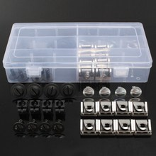 60PCs Clips Nut Pin Engine Protective Pan Hardware Kit For Audi A4 For VW Passat AWD 4A0805121A 4A0805163 8D0805121B 8D0805960