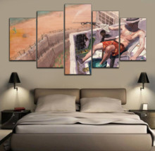 HD Print Picture Game RUST Painting Wall Art Decor Modular Framework Canvas Modern Artwork Poster 5 Piece Home