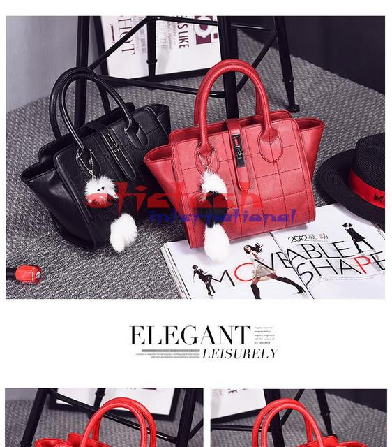 by dhl or ems 10pcs 2017 New Popular Vintage Style Women Leather Handbags Classic Grid Design Women Tote Bags