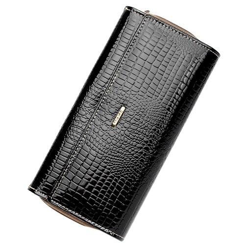 5 pcs of Qian Xi Lu Patent leather Fashion Women 3 Pleats Long Wallet Zipper Pocket Card Holder Wallet автомобильное украшение car of qian