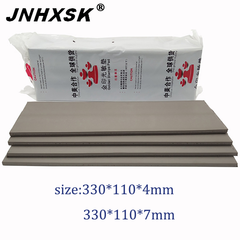 Laser Engraving Rubber Pad/ Recycle Inking Stamp Material/rubber Sheet 330x110x4mm/330x110x7mm