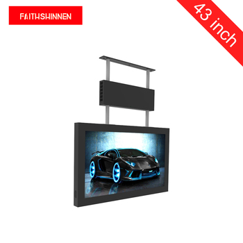 43 inch ceiling mounted totem digital signage advertising for luxury shops