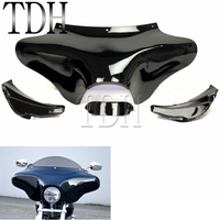 Black Motorcycle Fairing Front Outer Batwing Fairing Cover For Yamaha V Star 650 Harley Road King Classic FLST 1986 2012 Honda