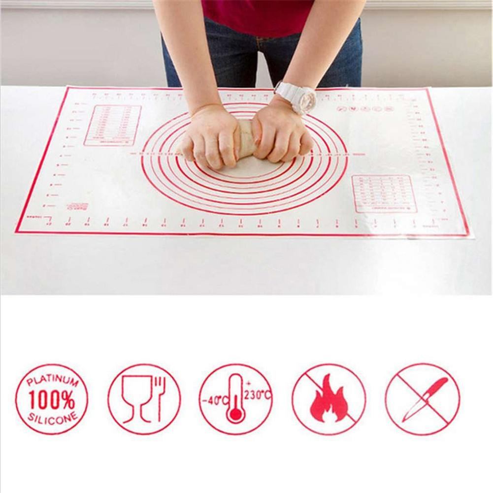 26x29cm 40x30cm Non-Stick Silicone Dough Pad Baking Dough Pad Sheet Rolling Pastry Liner Mat Baking Mats Bakeware <font><b>Kitchen</b></font> <font><b>Tools</b></font> image