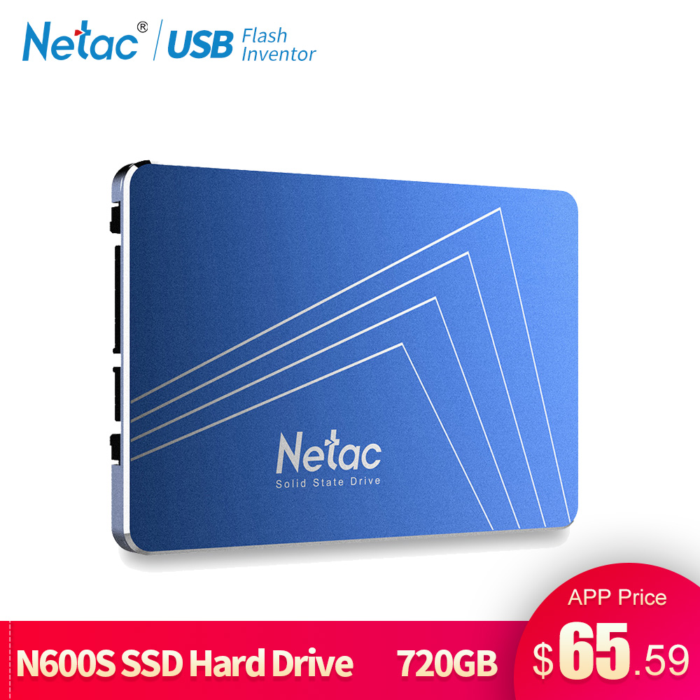 Netac SSD Hard Drive 1TB SATA3 360GB 430GB 720GB TLC Internal Solid State Drive 2 5