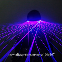 Blue Laser Man Glasses With 2pcs Violet Lasers Luminous Stage Props Laser Show Sunglasses Event Party DJ Singer Eyewear