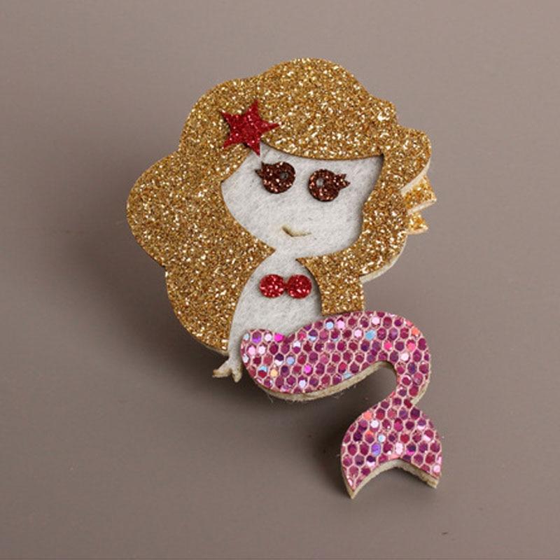 Glitter Havfrue hårklip Guld rød Kongelig lilla tegneserie Hotsale - Beklædningstilbehør - Foto 3