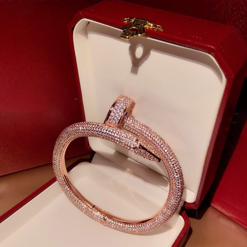 Hot brand S925 sterling silver Big nail Bracelet French quality personality celebrity ball hundred fashion cute