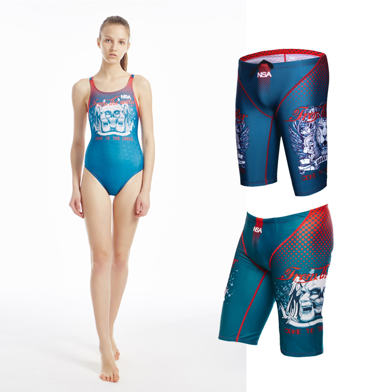 Short Swimsuit Special-Print Skull Quick-Drying 309k Fashion Nsa