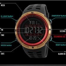Luxury Brand Men Sports Watches Dive 50m Digital LED Military Watch Men Fashion