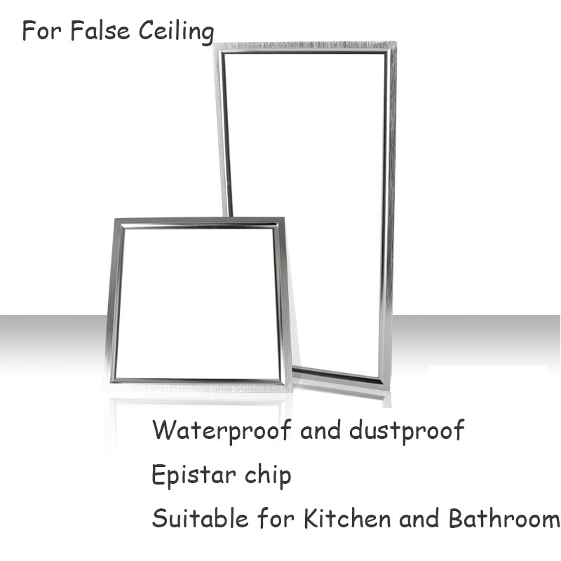 ФОТО 6PCS Waterproof Square 300x300 LED Panel downlight 30x30 cm 12W 300x300 LED Panel For Kitchen and Bathroom