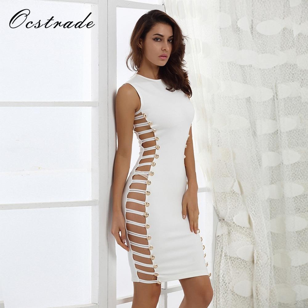 Out blanc Femmes Rayonne En Noir Cut Hl 2017 Noir Ocstrade Bandage Mode Nouveau Embelli De Gros Robe xnUqPa