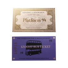 1 Pcs Harri Potter Hogwarts London Express Replica Train Ticket 1pcs Knight Bus Ticket Prop Limited Supply(China)