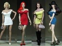 Personnalisé 1/6 Echelle Marilyn Monroe Classique Blanc Robe Mini Jupe Robe Blanc/Noir/Rouge/Bleu pour 12