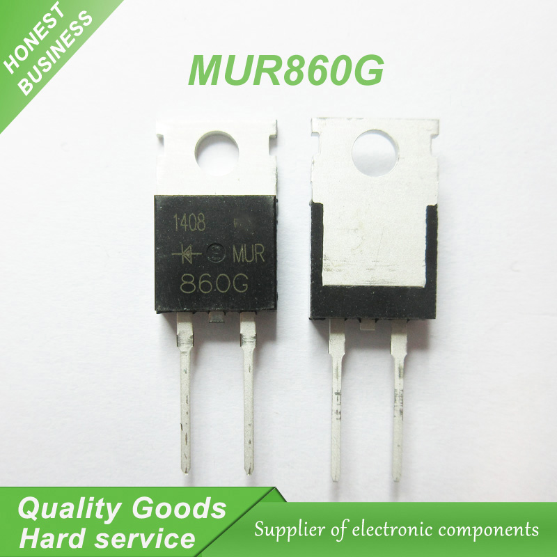 10PCS MUR860 U860 MUR860G TO-220 8A/600V ultrafast recovery diode new original10PCS MUR860 U860 MUR860G TO-220 8A/600V ultrafast recovery diode new original