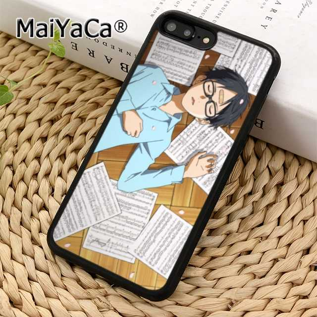 Maiyaca Kawaii Your Lie In April Wallpaper Phone Case Cover For Iphone 11 Pro 5 6s 7 8 Xr Xs Max Galaxy S5 S6 S7 Edge S8 S9 Plus Fitted Cases Aliexpress