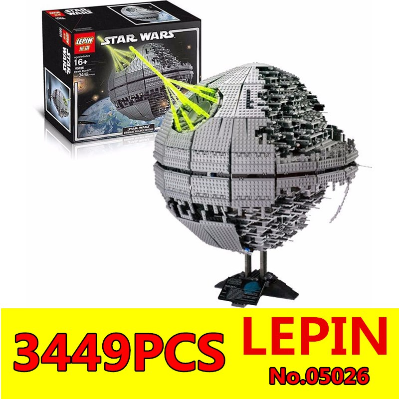 Death Star II Model Wars LEPIN 05026 3449Pcs Death Star Building Block Bricks Toys Kits Compatible with 10188 Child Gift lepin 22001 pirate ship imperial warships model building block briks toys gift 1717pcs compatible legoed 10210
