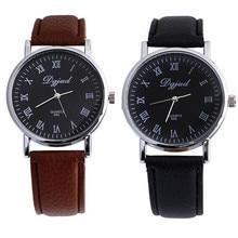 HOT!!! 2017 Fashion ladies men Watches Neutral Black Faux Leather Luxury Sport Analog Quartz Wrist Watch New Dec 21