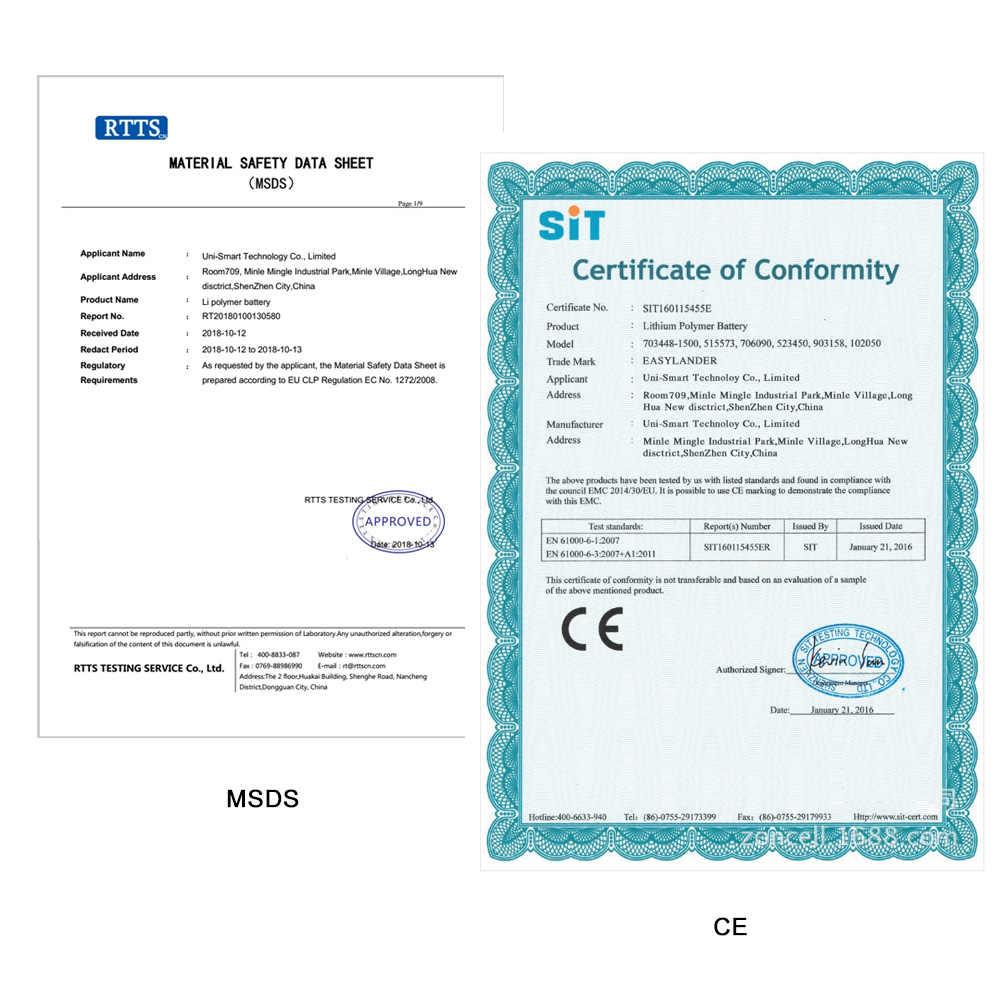 3.7 V 250 mAh 502030 Lithium Polymeer Li-Po li ion voor recorder datacam griffier sleutelhanger alarm