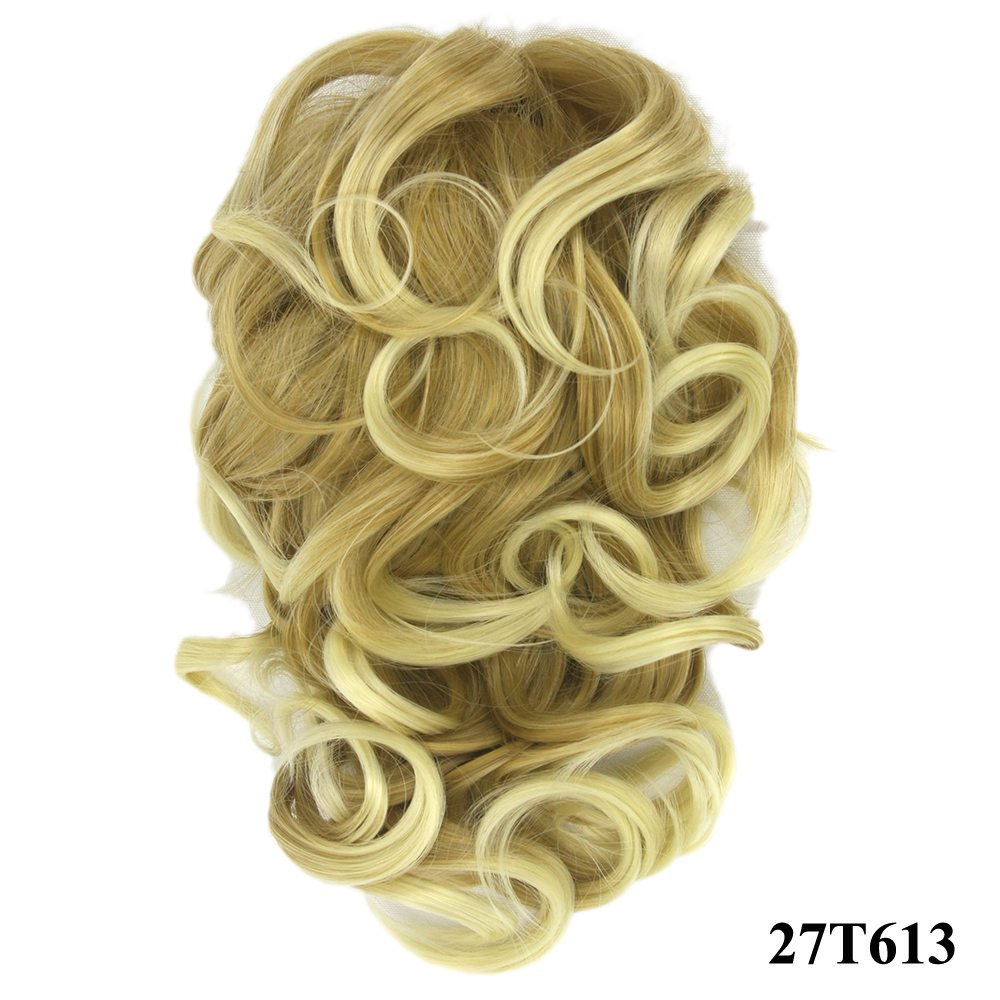 HTB1ZISrQVXXXXXYXVXXq6xXFXXXl - Soowee 8 Color Curly High Temperature Fiber Synthetic Hair Pony Tail Hairpiece Blonde Gray Clip In Hair Extensions Claw Ponytail