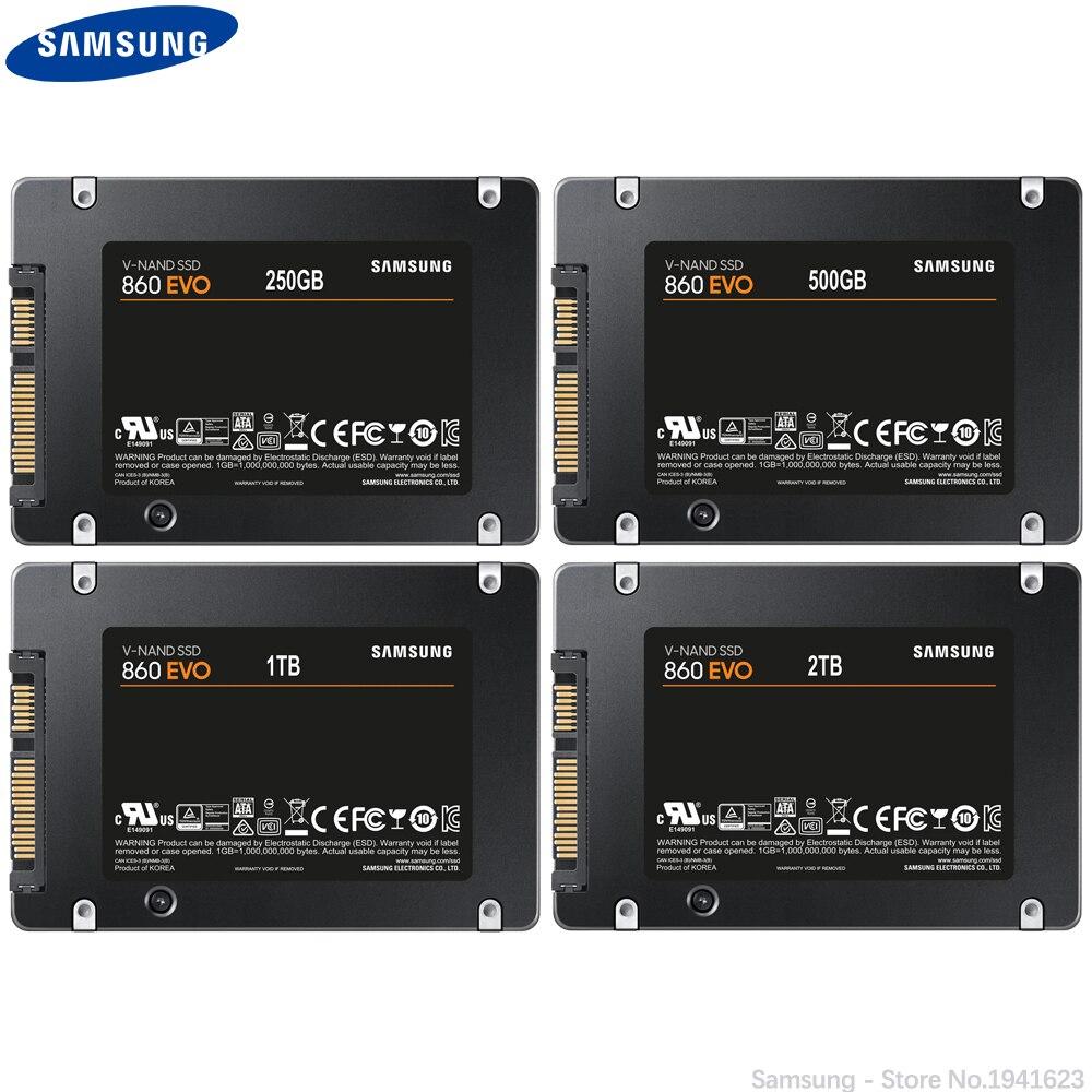 SAMSUNG SSD 860 EVO 1TB 250GB Internal Solid State Disk HDD Hard Drive SATA 3 2