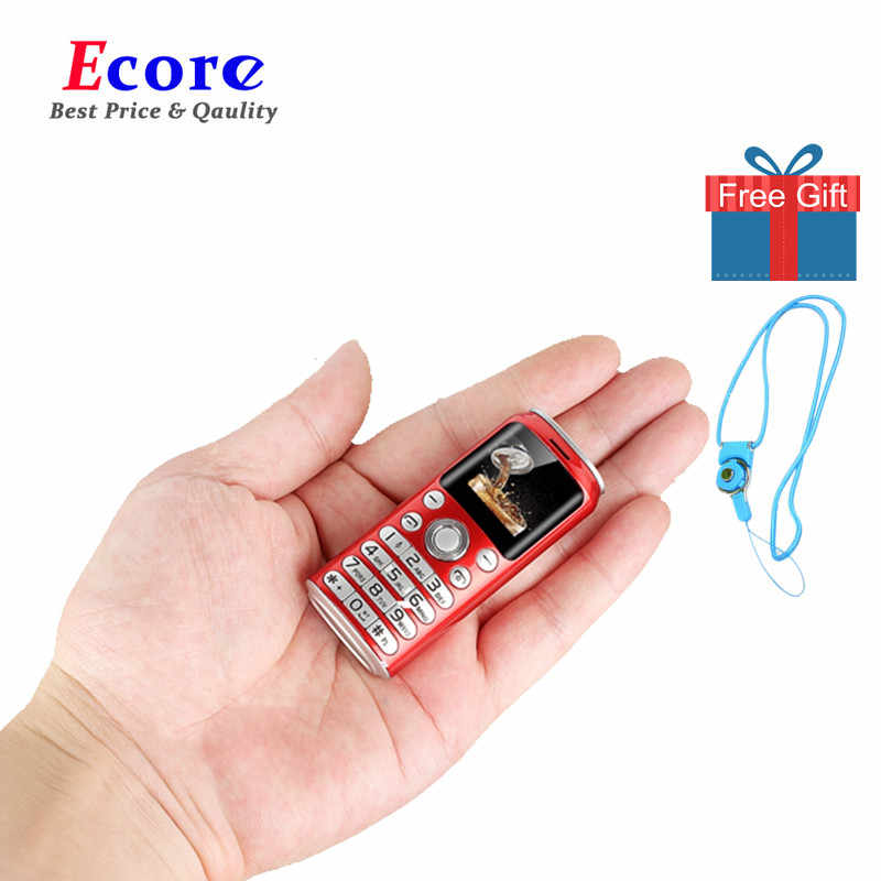 Satrend K8 Fashion Mini Ponsel Terkecil Ukuran Ponsel Dual SIM MP3 Bluetooth Dialer Call Recording Celular