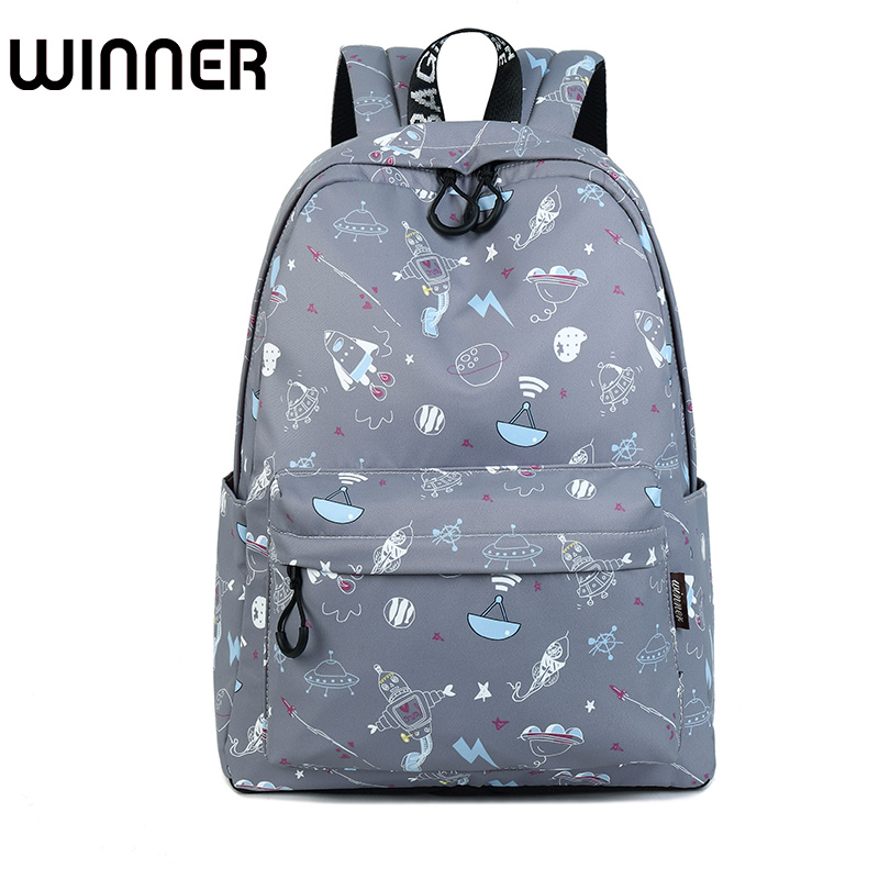 Fashion Waterproof Women Backpack Cute Space Ship Pattern Printing Large Capacity Girls Laptop Knapsack блок питания cooler master masterwatt 550w