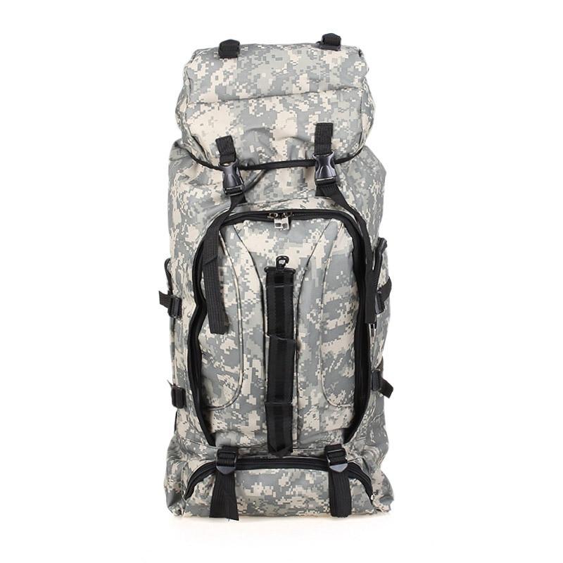 ФОТО 75L Men Military Backpack Large Capacity Camouflage Bag Women Mountaineering Backpack Waterproof Travel Bag