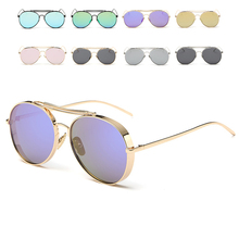 Viajes goggle gafas gafas de sol Gafas de Marco de Metal gafas de Sol para Las Mujeres Hombre gafas anti-reflective sunglass
