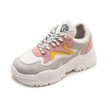 3725b1ea9f Dropshipping 2018 Outono Nova Ins Sneakers Coreano Ulzzang Harajuku Estilo  Selvagem Tênis Grosso-sola Sapatos