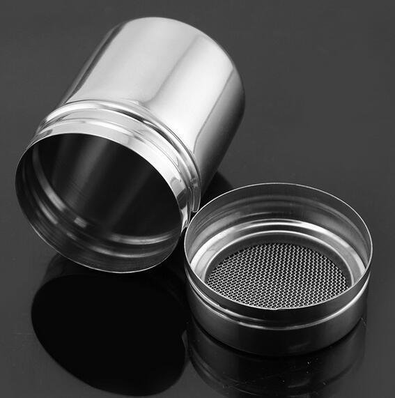 Fashion Hot Stainless Chocolate Shaker Cocoa Flour Icing Sugar Powder Coffee Sifter Lid Shaker Kitchen Cooking Tools
