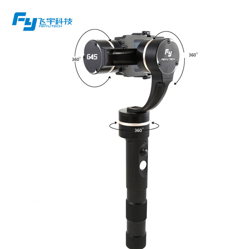 все цены на  Handheld Steady Gimbal for GoPro Feiyu Tech FY G4S with Free Wireless Remote Control Joystick 360 Degree Moving 3-Axis  онлайн