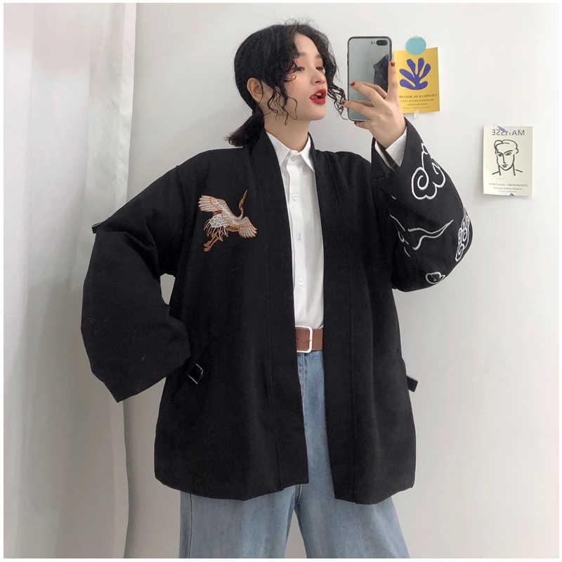 Gagarich 2019 春の女性の韓国バージョン原宿ロングスタイル人格刺繍ジャケット