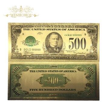 10 шт./лот Американский 1918 Edition 500 долларов счета 24 К золотой фольги банкнот World Валюта Реплика деньги Банкноты подарок