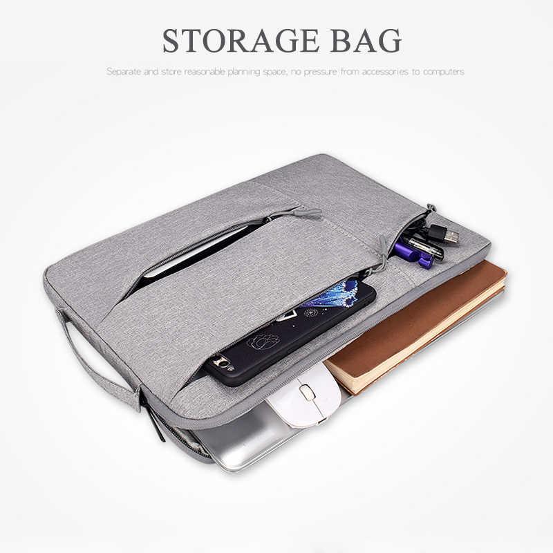 حقيبة لابتوب 14 13 15 بوصة حالة دفتر الحقيبة ل ماك بوك اير 13 حقيبة لاب توب المحمولة حقيبة 15.6 حقيبة يد حقيبة ل اللوحي