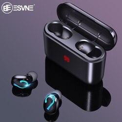 ESVNE TWS 5,0 Bluetooth беспроводные наушники спортивные наушники стерео наушники гарнитура наушники зарядная коробка дисплей питания
